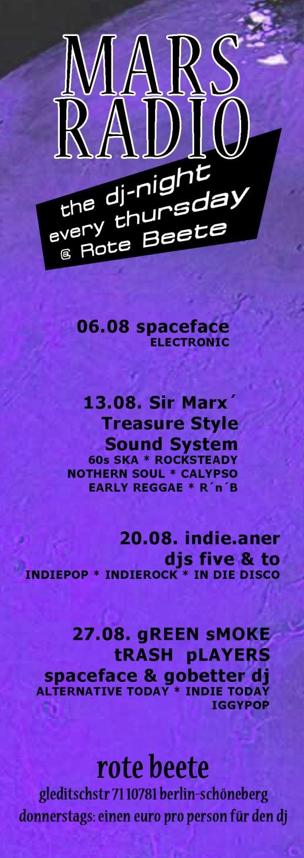 Mars Radio Monatsübersicht 08.2009 designed by Designjockey