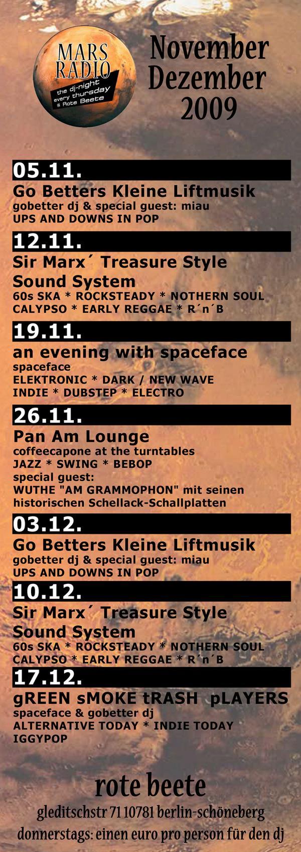 Mars Radio Monatsübersicht 11./12.2009 designed by Designjockey